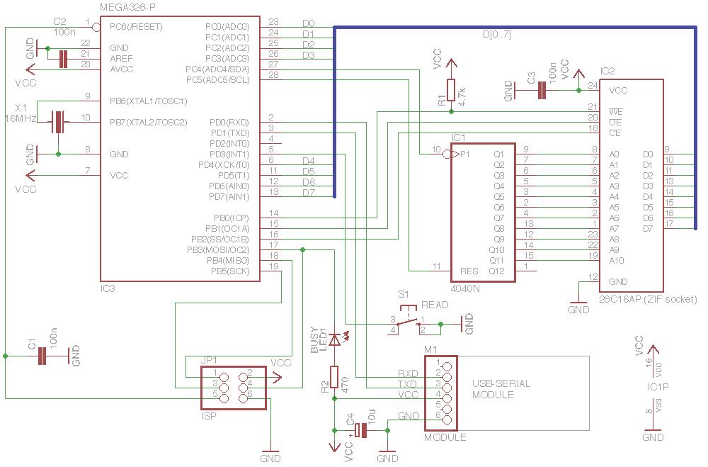 Progamming tool for 28C16 EEPROM
