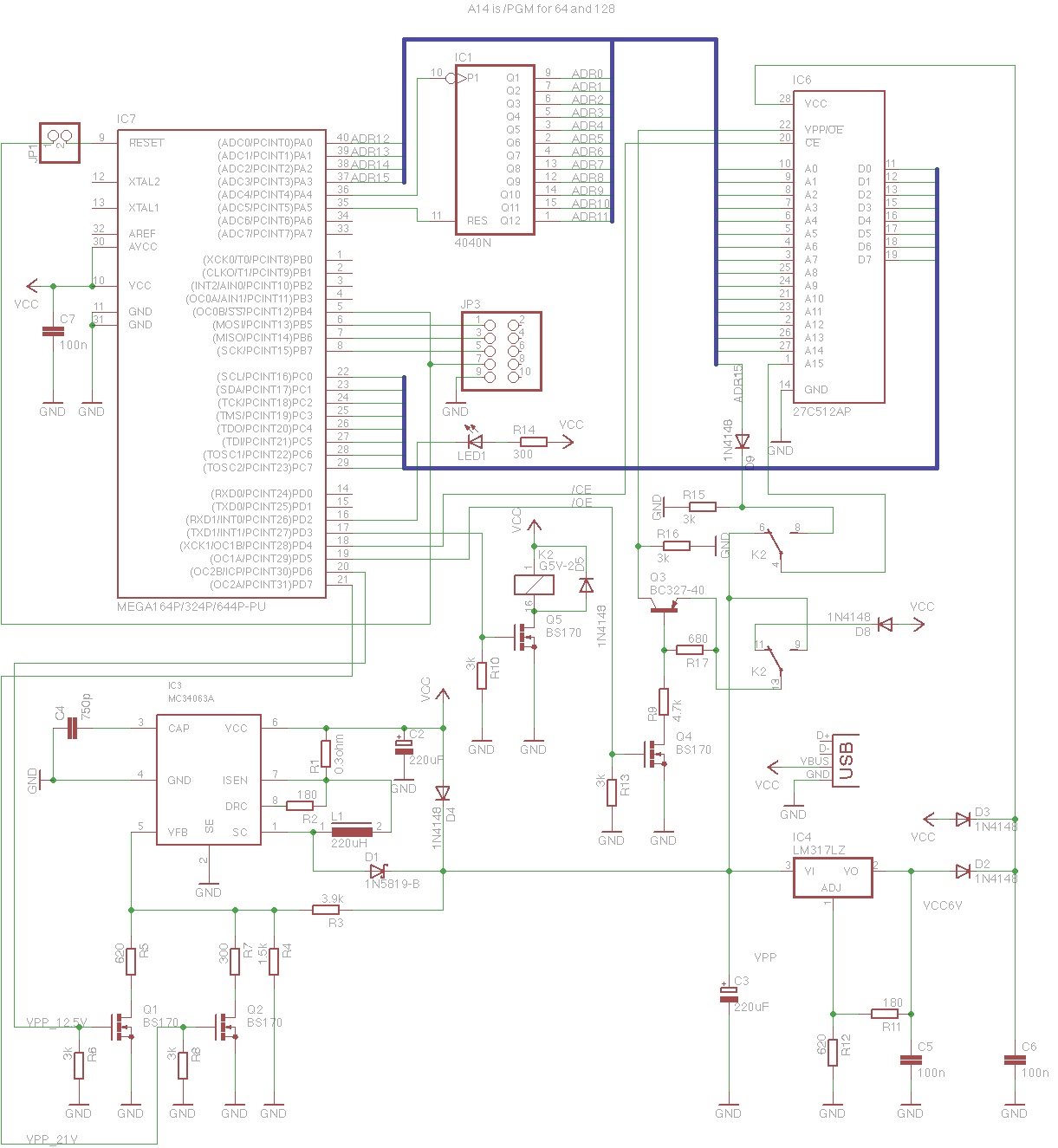 Eeprom Logic Diagram Circuit Wiring Diagrams Pic32mx Driving A Stepper Motor Northwestern Mechatronics Wiki Usbtinyisp Attached Eprom Programmer Gates 26