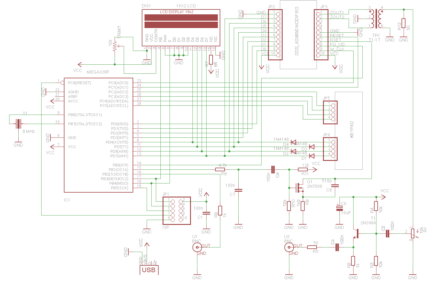 Dds Function Generator Mcu Schematic - Wire Data Schema •