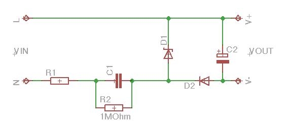 Transformerless power supply calculator